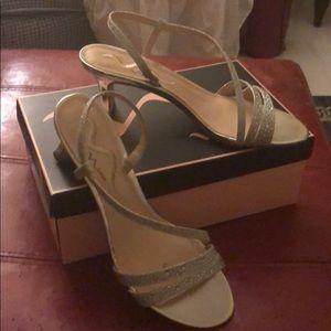 Silver metallic Nina sandals